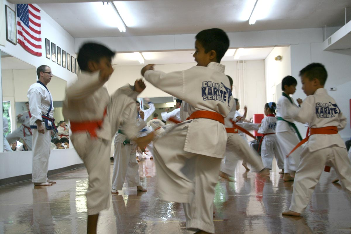 Chang Karate Students