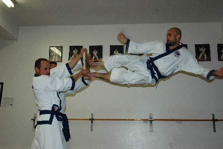 Chang Karate Double Flying Side Kick