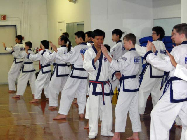 Grand Master Chang teaching class